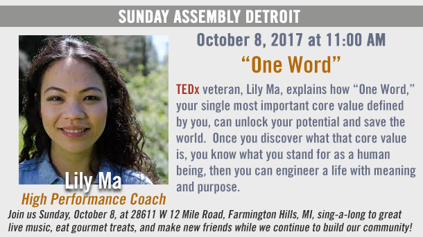 """Sunday Assembly Detroit """"One Word"""""""